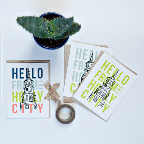 Hello from the Holy City | Greeting Card Box Set | Texture Design Co