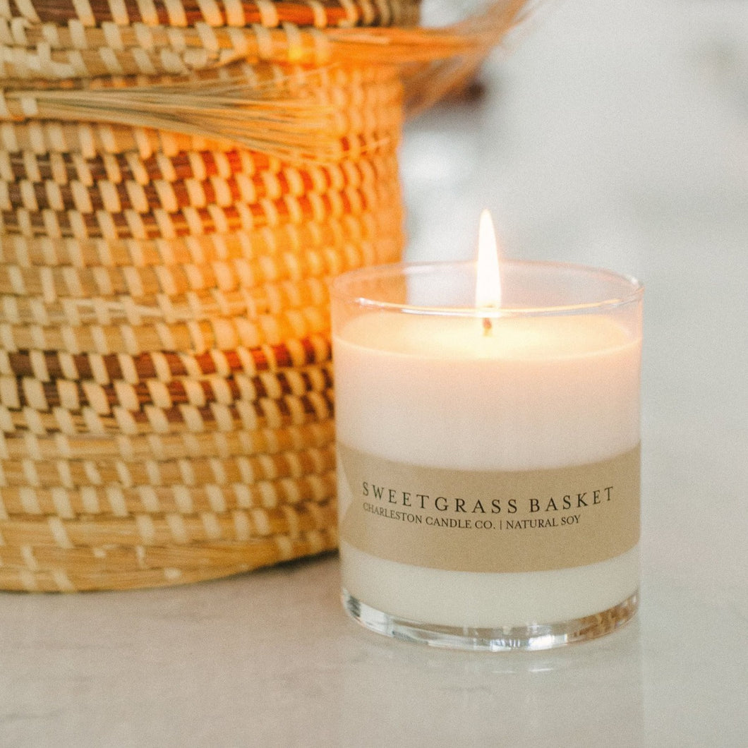 Sweetgrass Basket Candle | Charleston Candle Co