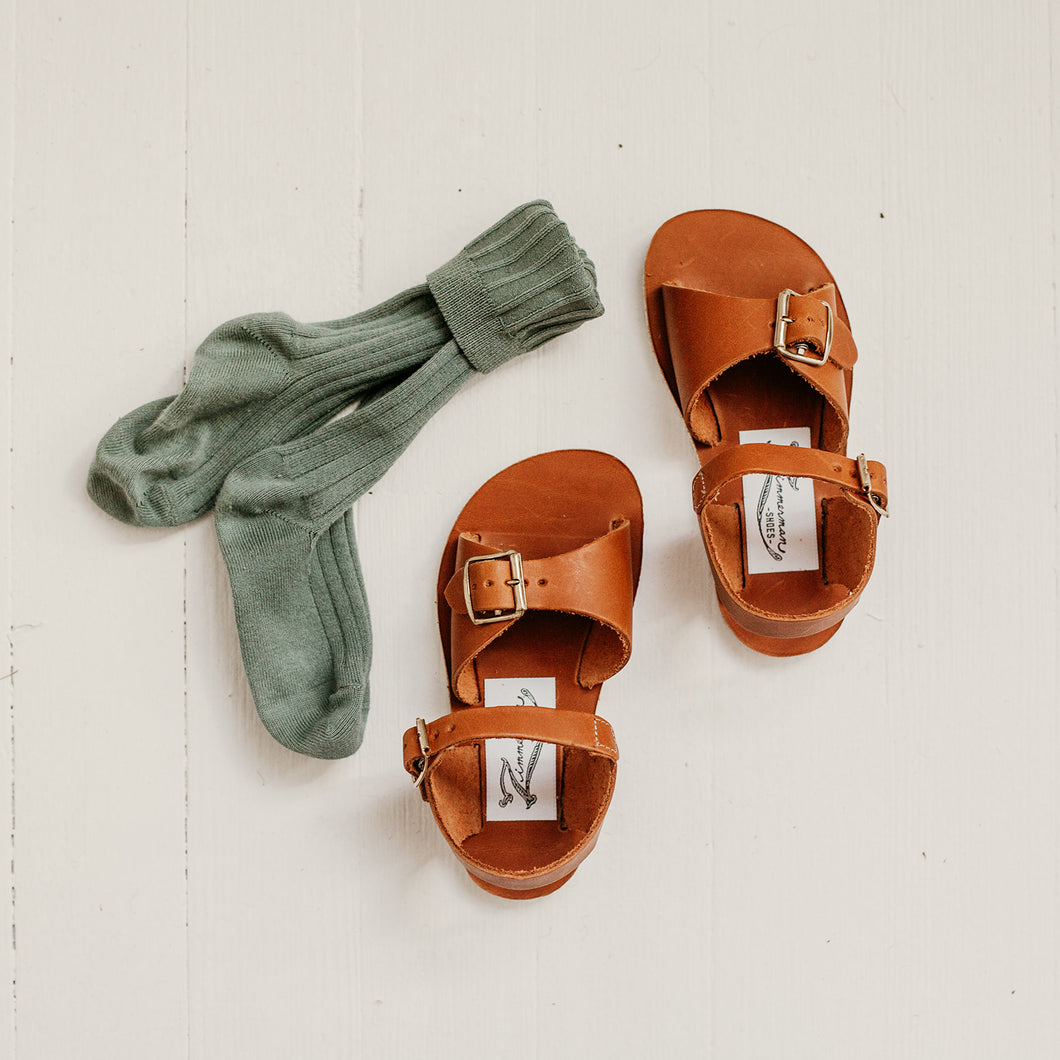 Stevie Sandal in Warm Brown | Zimmerman Shoes