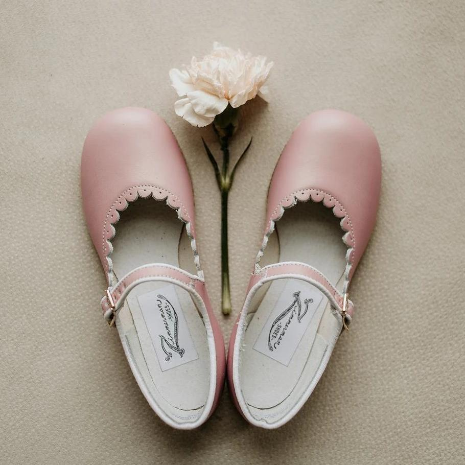 Scalloped Mary Jane in Blush Pink | Zimmerman Shoes