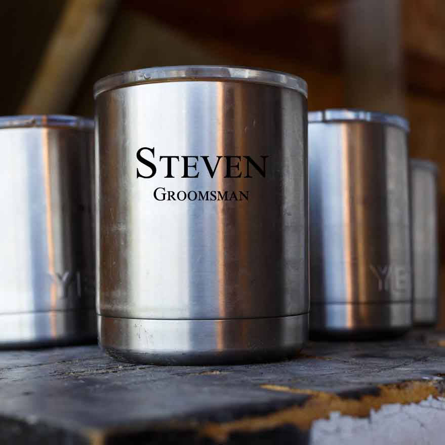 Personalized Yeti Rambler Tumbler Lowball 10oz Stainless Steel Personalized Groomsmen Gifts Father S Day Dad Corporate Gift