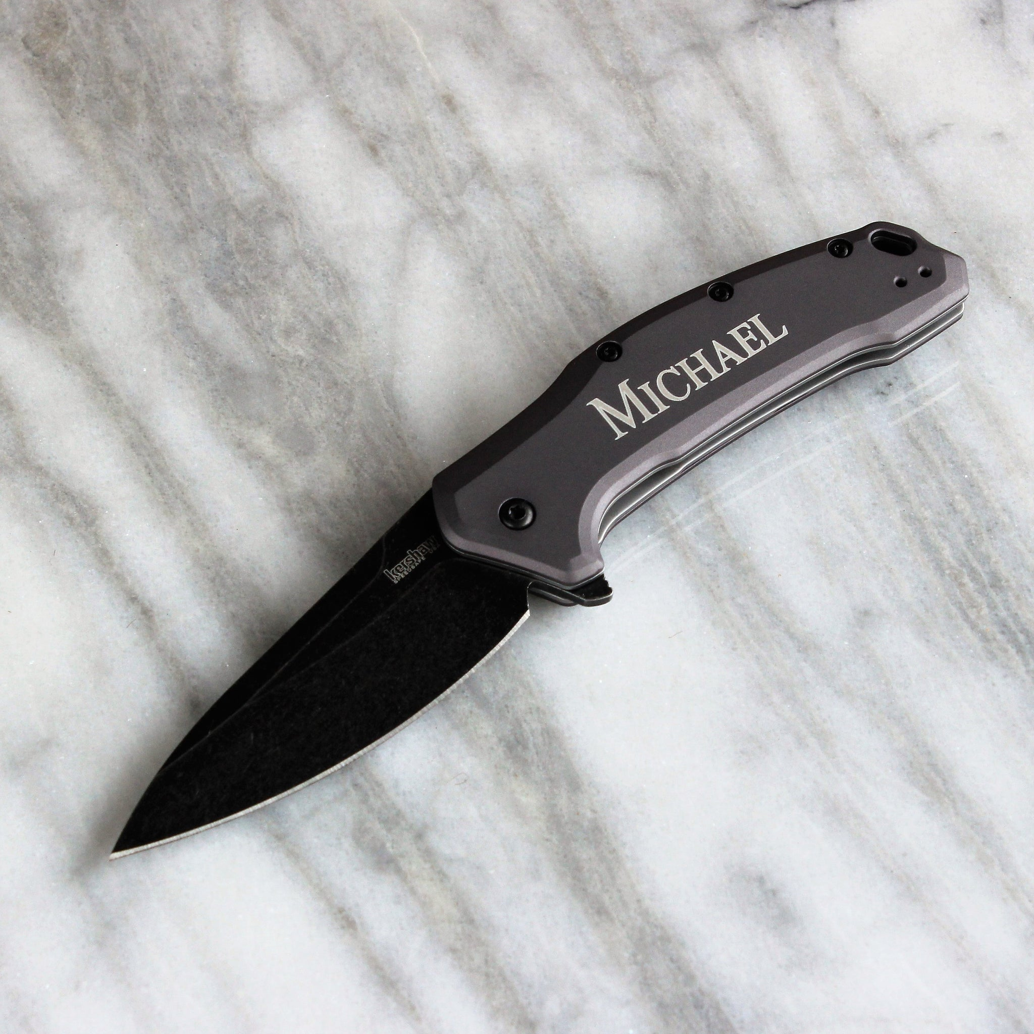 Kershaw Ken Onion Blur Black Serrated Knife - Personalized Groomsmen Gift,  Engraved Birthday Gifts, Best Man, Engraved, Custom Knives