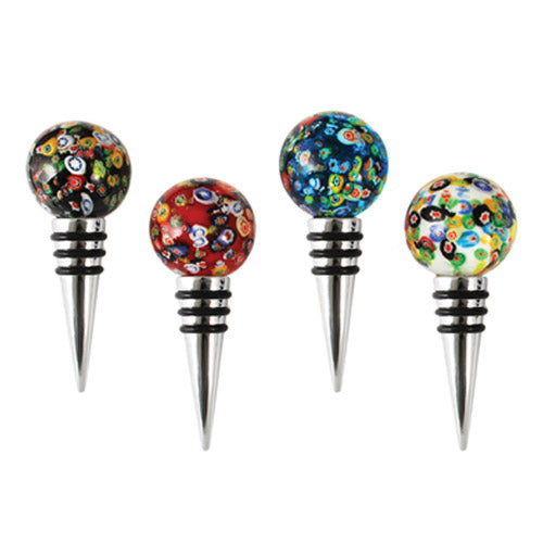 Fun Wine Bottle Stopper Confetti Glass