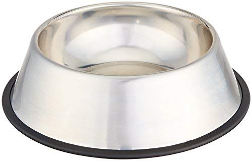 Gateway : AmazonBasics Stainless Steel Pet Dog Water And Food Bowl - 11 x 3 Inches : Amazon.com