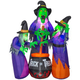 Amazon.com: Home Accents Holiday 6 ft. Inflatable Fire and Ice 3 Witches with Cauldron (GGR) Projection Airblown Scene (0191245242505): Books