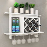 Wall Mount Wine Rack Glass Holder