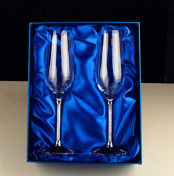 Luxury Diamond Crystal Wine Glass Set of 2