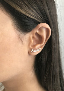 Bespoke Name Earrings - Customise Any Name
