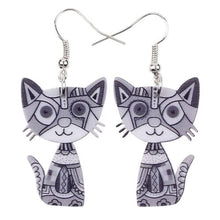 Load image into Gallery viewer, Drop Cat Acrylic Earrings - GrandOakTree