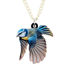 Load image into Gallery viewer, Acrylic Blue Tit Bird Necklace - GrandOakTree