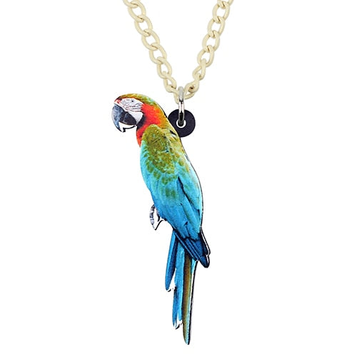 Acrylic Macaws Parrot Necklace - GrandOakTree