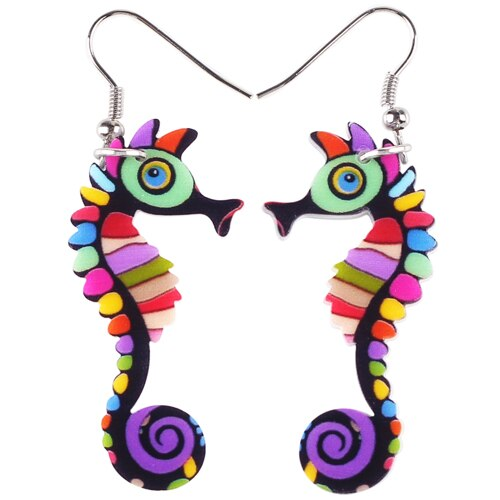 Long Hippocampus Earrings - GrandOakTree