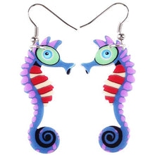 Load image into Gallery viewer, Long Hippocampus Earrings - GrandOakTree