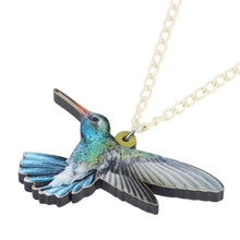 Load image into Gallery viewer, Acrylic Hummingbird Necklace - GrandOakTree