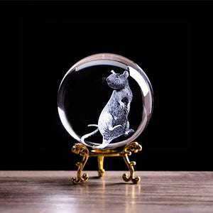 2020 Zodiac 3D Rat Crystal Ball - GrandOakTree