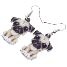 Load image into Gallery viewer, Acrylic Pug Puppy Earrings - GrandOakTree