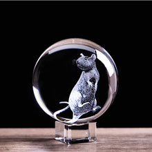 Load image into Gallery viewer, 2020 Zodiac 3D Rat Crystal Ball - GrandOakTree