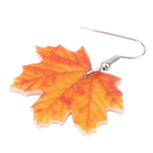 Load image into Gallery viewer, Acrylic Maple Leaf Earrings - GrandOakTree