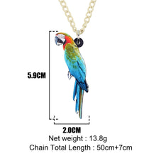 Load image into Gallery viewer, Acrylic Macaws Parrot Necklace - GrandOakTree