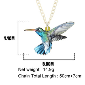 Acrylic Hummingbird Necklace - GrandOakTree