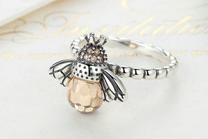 *** NEW 2019 *** Dancing Bees Ring - 925 Sterling Silver - GrandOakTree