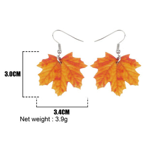 Acrylic Maple Leaf Earrings - GrandOakTree