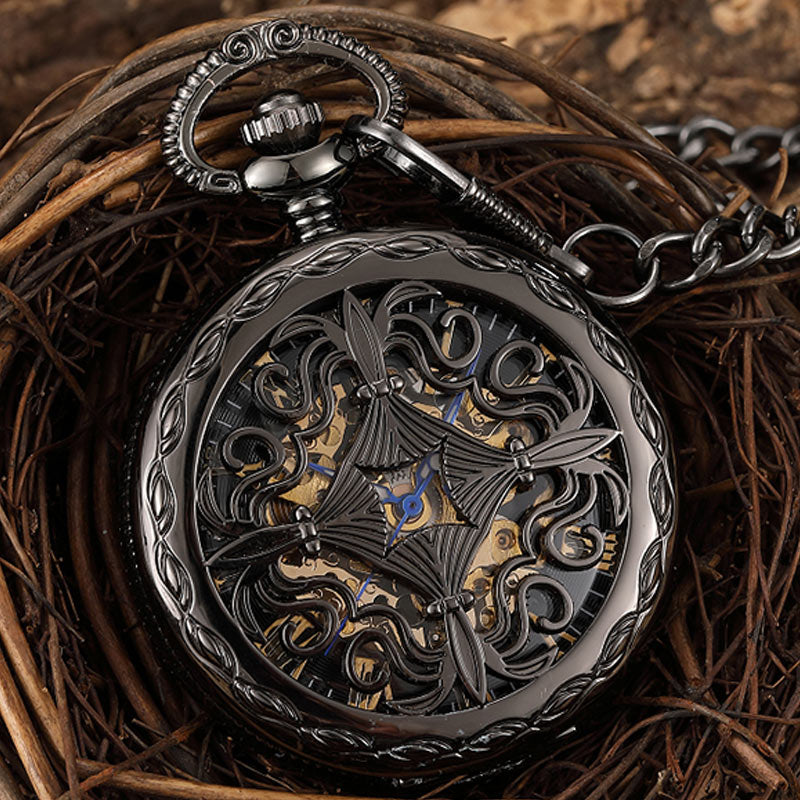 Antique Mechanical Pocket Watch - GrandOakTree