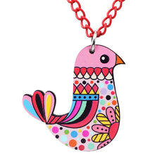Load image into Gallery viewer, Acrylic Multicolor Bird Necklace - GrandOakTree
