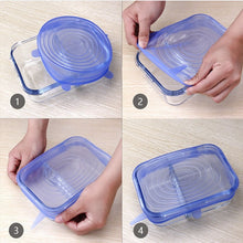Load image into Gallery viewer, Stretch & Fit - Eco Silicone Stretch Lids (6pcs) - GrandOakTree