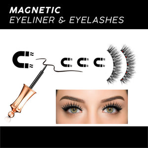 Magemare®️ Magnetic Eyeliner & Eyelash Kit (Reusable!) - GrandOakTree