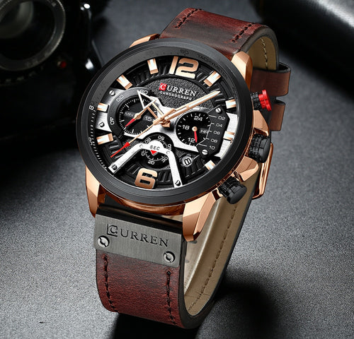 Curren Luxury Cronograph Watch for Men