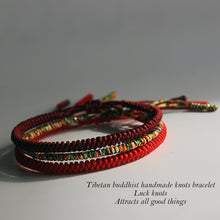 Load image into Gallery viewer, Handmade Tibetan Lucky Knots Bracelet - GrandOakTree