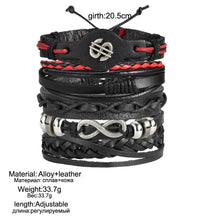 Load image into Gallery viewer, High Quality Multilayer Leather Bracelet Infinite Dollar - GrandOakTree