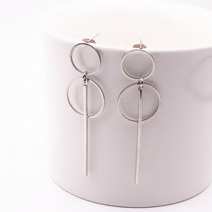 Simple Long Circle Earrings - GrandOakTree