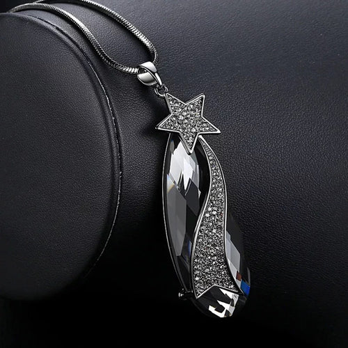 Long Necklace with Pendant for Women - Star Drop - GrandOakTree