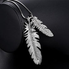 Load image into Gallery viewer, Long Necklace with Pendant for Women - Feather - GrandOakTree