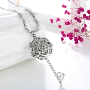 Long Necklace with Pendant for Women - Key - GrandOakTree
