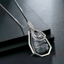 Load image into Gallery viewer, Long Necklace with Pendant for Women - Irragular square - GrandOakTree