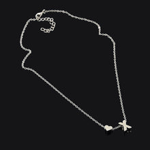 Load image into Gallery viewer, Tiny Dainty Heart Initial Necklace - GrandOakTree