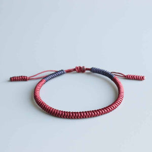 Handmade Tibetan Lucky Knots Bracelet - Couple Loyalty Bangle - GrandOakTree