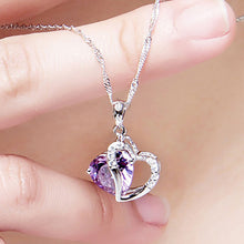 Load image into Gallery viewer, Heart Pendant Necklace - 6 colors - GrandOakTree