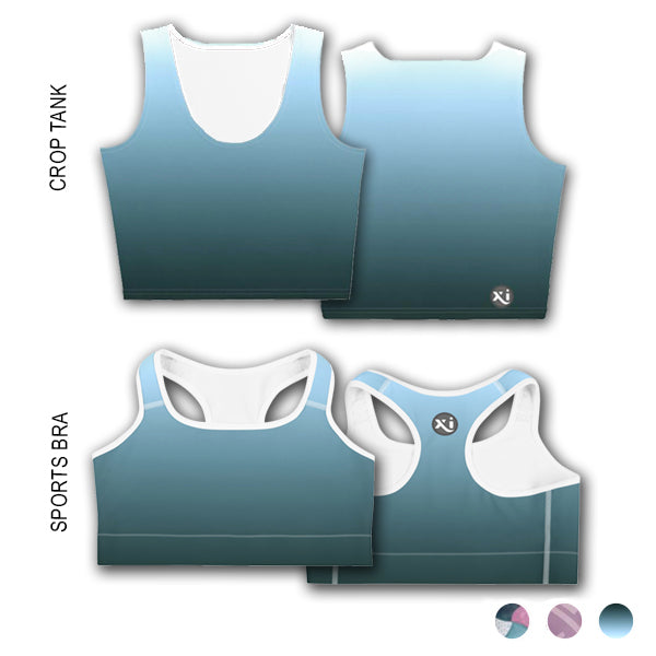 Lexi Turquoise Ombre Tops