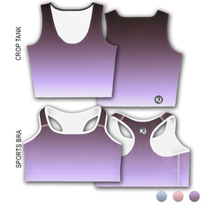 Penny Purple Ombre Tops