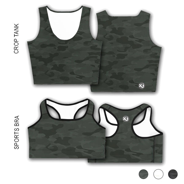 Ruby Green Camo Tops