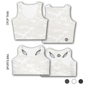 Ruby White Camo Tops