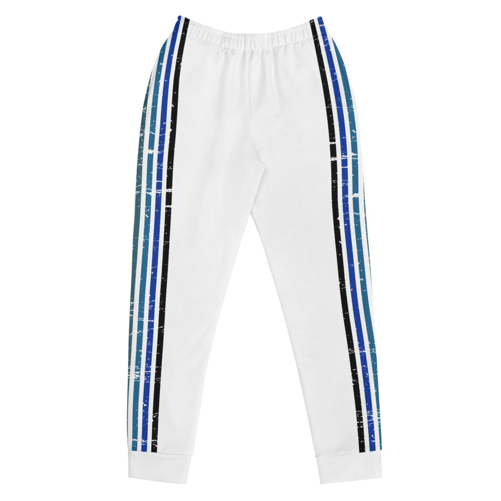 Lenni Retro Stripe White Track Pants
