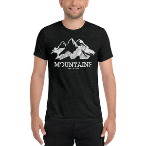 Mountains Are Calling Men's Tri-blend Tee