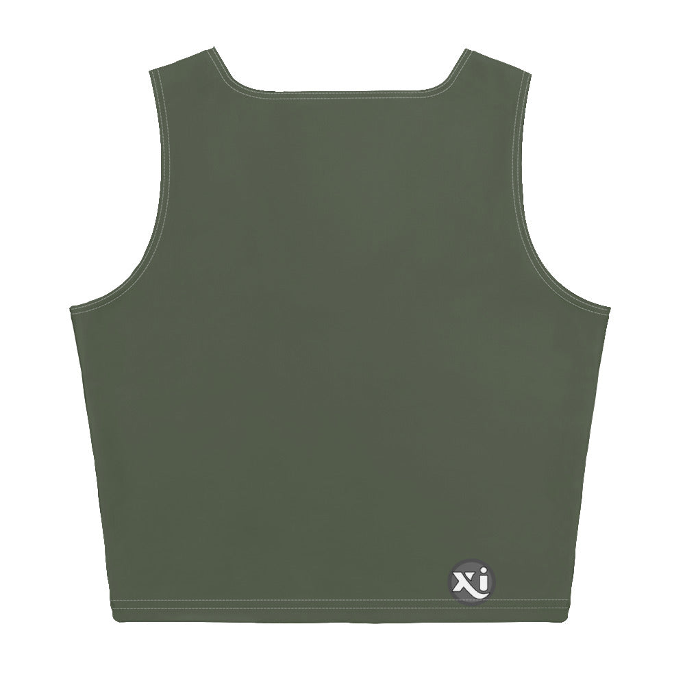Riley Army Crop Top