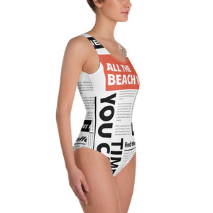 Beach News One-Piece Swimsuit