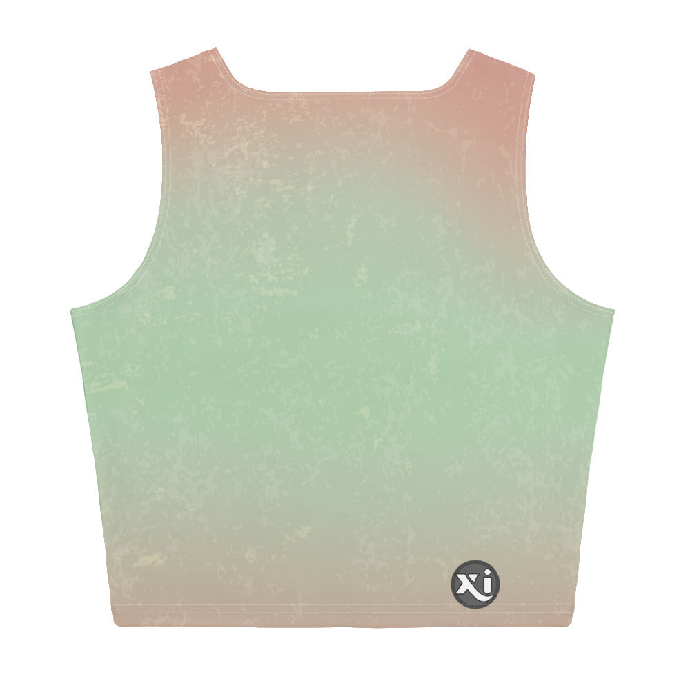 Breathe Green Mermaid Crop Top